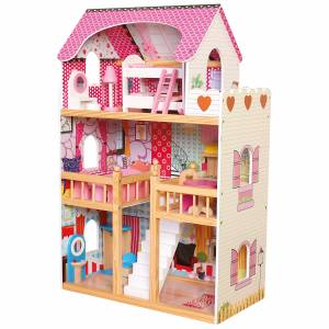 Dollhouse with 17pcs furnitures